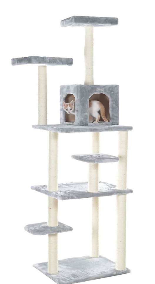 """New Chewy Autoship Customers: 74"""" Armarkat GleePet Cat Tree w/ Seven Levels $35.81 + free shipping"""
