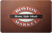 Cardcash Extra 5% Off Sitewide: $25 Boston Market (ecode) $20, $15 AMC Theaters (ecode) $12.75, More