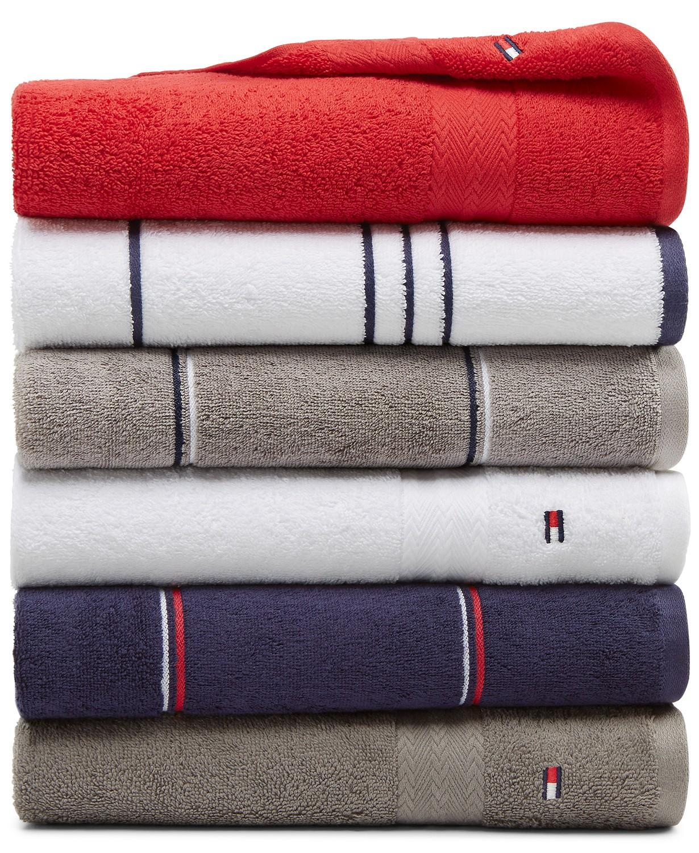 Tommy Hilfiger All American II 100% Cotton Bath Towels $5, Hand Towel $4, Washcloth $2 + Free Shipping on $25+
