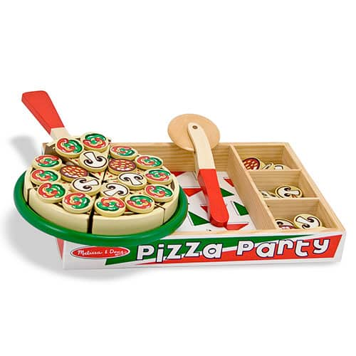 Melissa & Doug: Pizza Party $10,  100 Wood Blocks Set $10, Slice and Bake Cookie Set $10 + free shipping