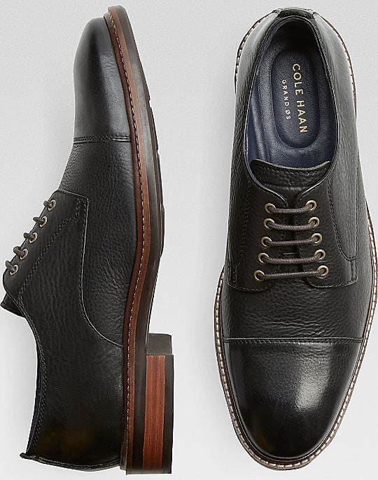 Cole Haan Men's Watson Cap Toe or Wingtip Leather Oxfords $60 + free shipping