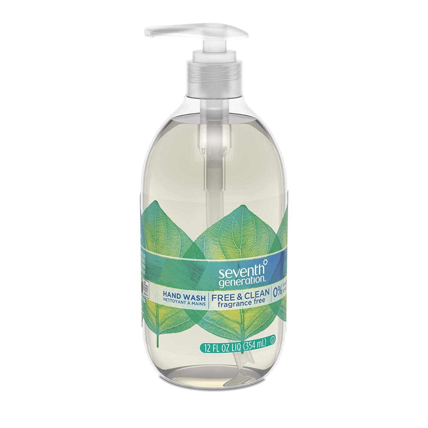 8-Pack 12-Oz Seventh Generation Hand Wash Soap (Free & Clean Unscented) $11 ($1.37 each) w/ S&S + Free S/H