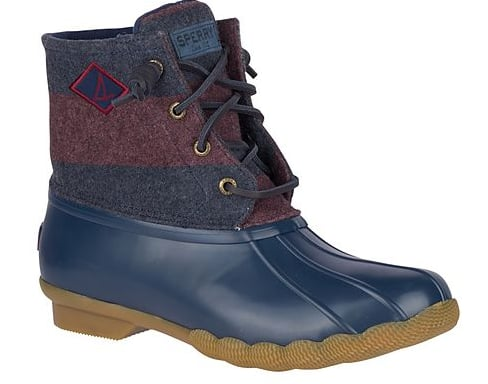 Sperry Boots: Women's Saltwater Stripe or Sherpa Duck Boot 2 for $84.76 ($42.38 each), Men's Authentic Suede Chukka + Watertown Chukka $86.37 ($43.18 each) More + fs