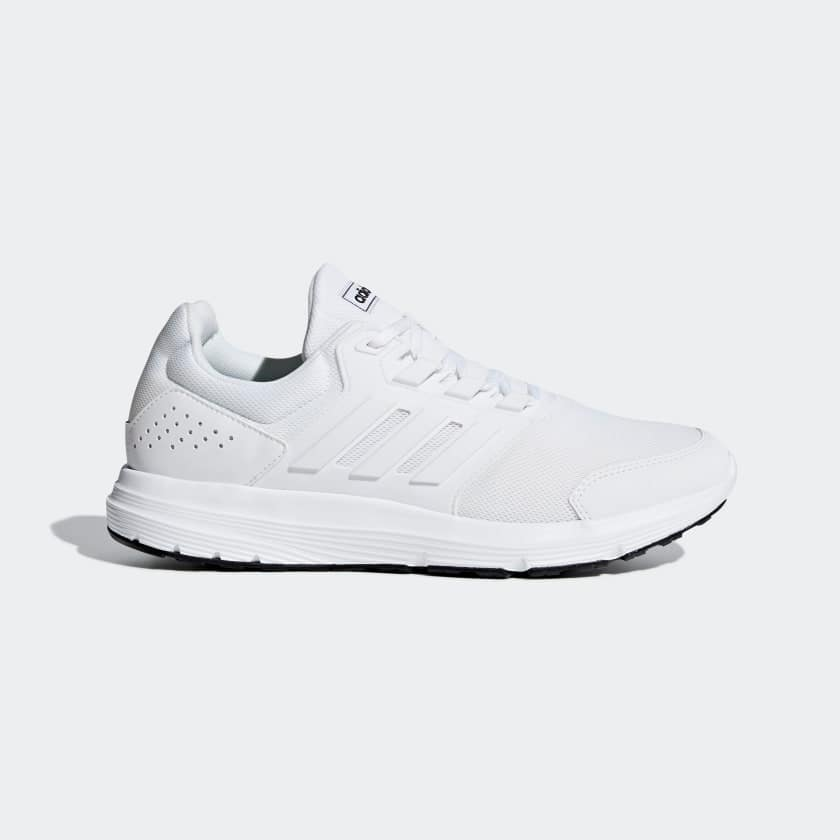 adidas Men's Galaxy 4 Shoes (cloud white, up to size 14) $25 + free shipping