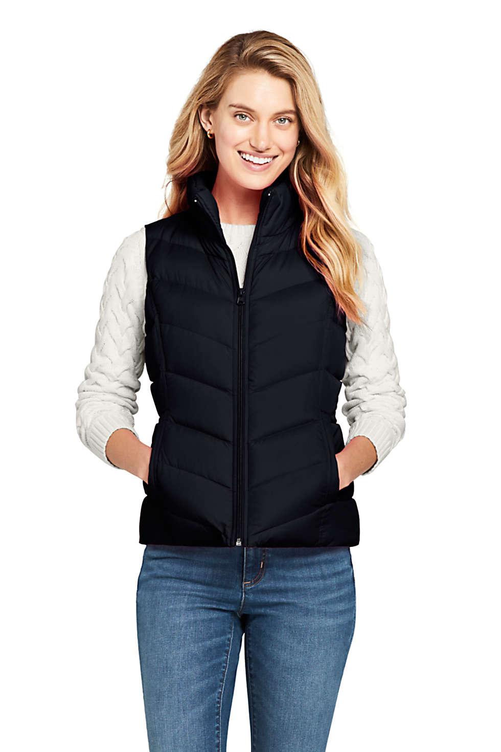 Lands' End Women's Winter 600 Fill Power Down Puffer Vest (various colors)