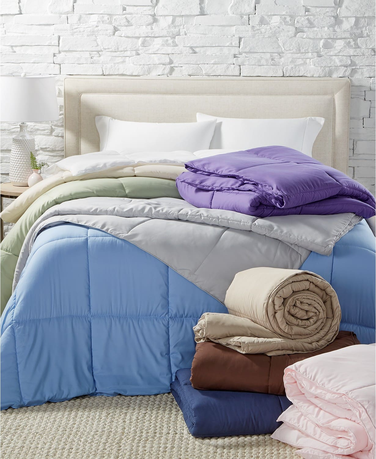 Royal Luxe Lightweight Microfiber Color Down Alternative Comforter (all sizes) $20 + Free store pickup at Macys