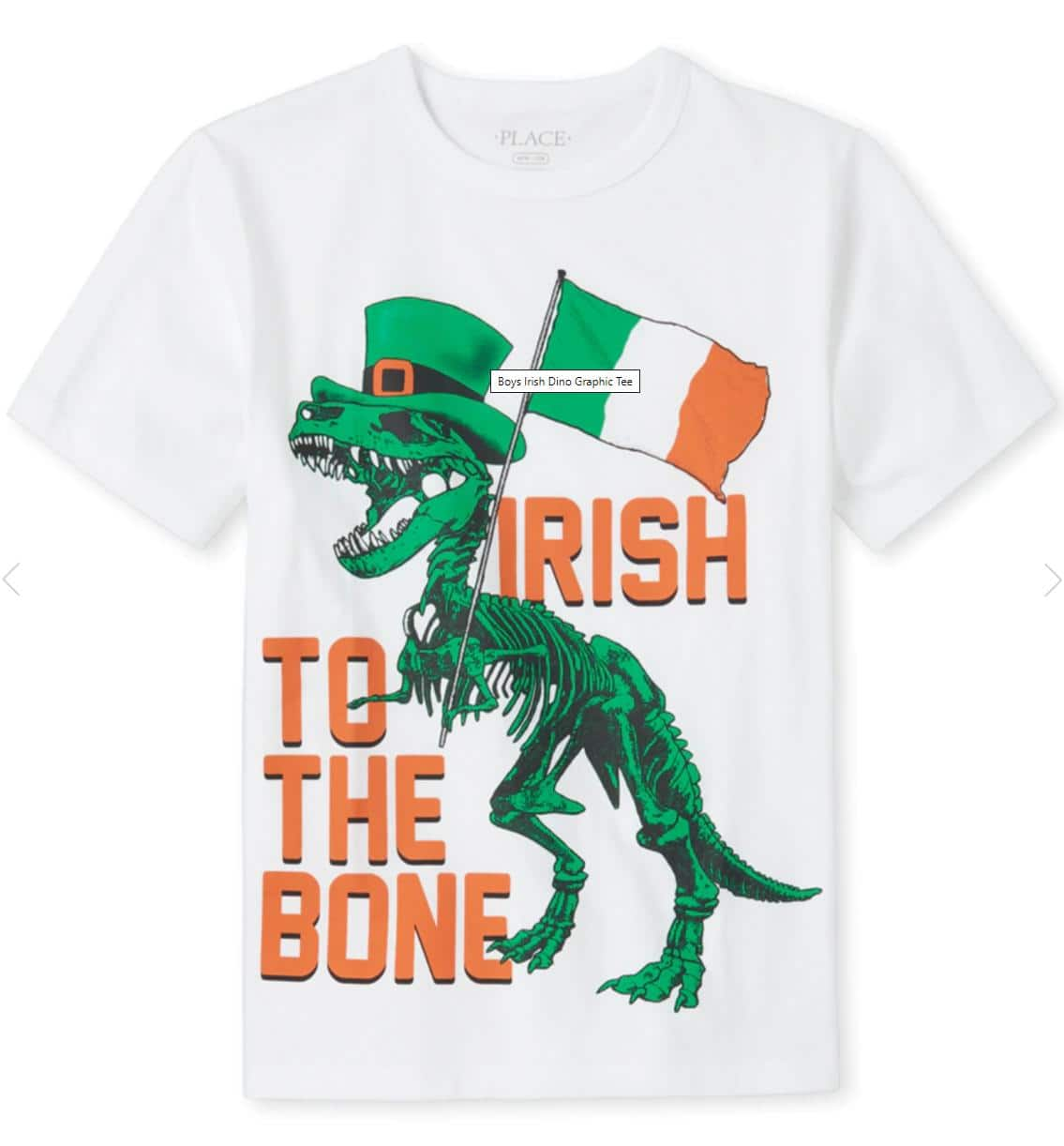 Big Boys' Irish Dino Graphic Tee (Sizes 5-16)