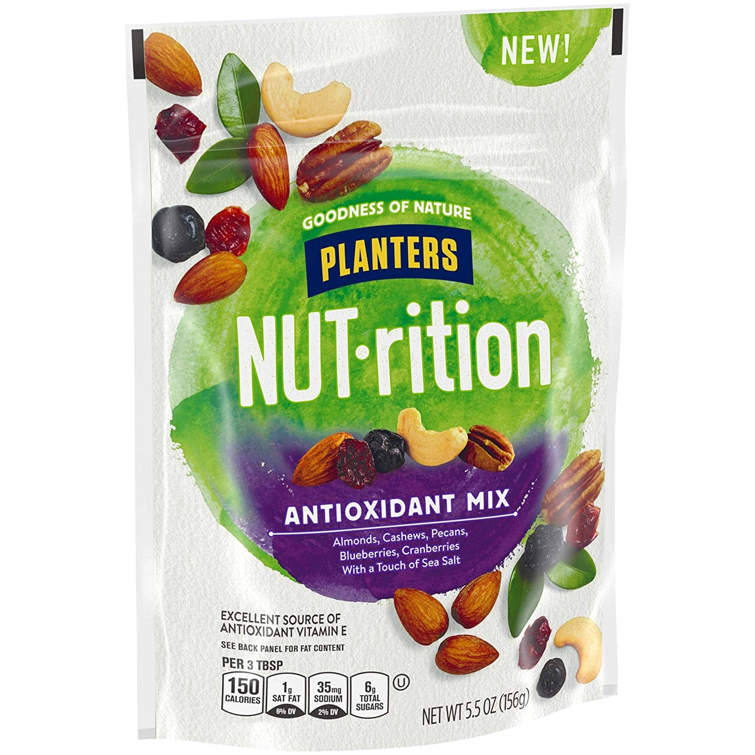 5.5-Oz NUTrition Antioxidant Snack Nuts Mix $2.27 w/ S&S + free shipping