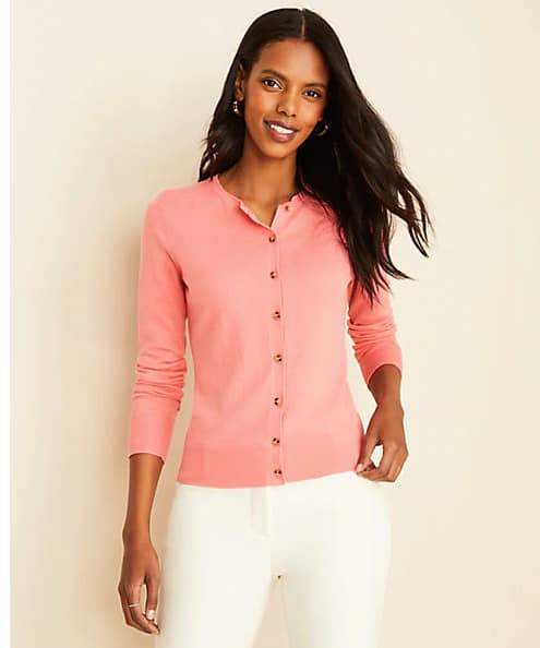 Ann Taylor Extra 60% to 70% Off Sale Styles: Women's Ann Cardigan $8, Colorblock Boatneck Sweater $7.50 & More + Free S&H