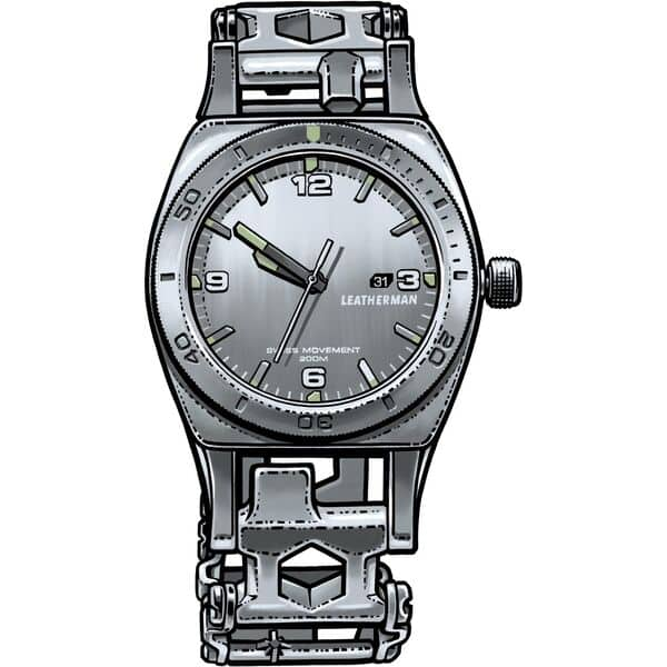 Leatherman 30-in-1 Utility Tempo Tread Stainless Steel Watch $252 + free shipping