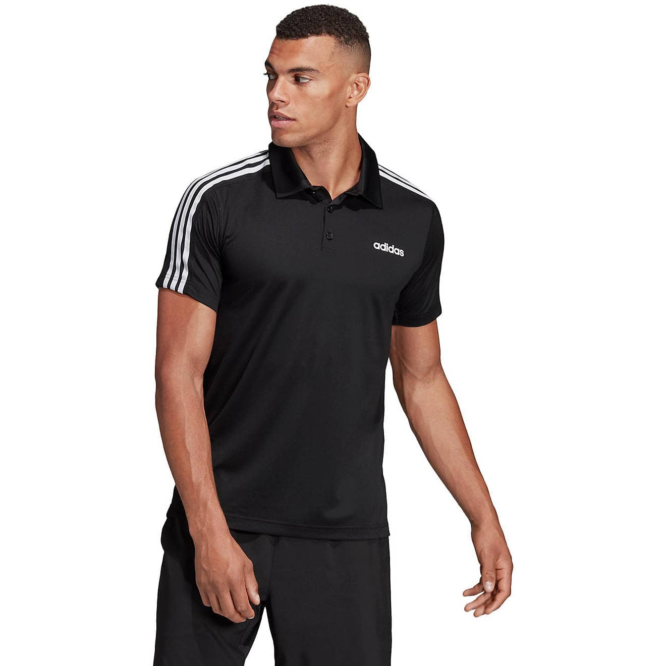 adidas Men's D2M 3S Polo Shirt (black) $12.49, Under Armour Men's HeatGear Armour Long Sleeve T-shirt $15, More + free shipping on $25