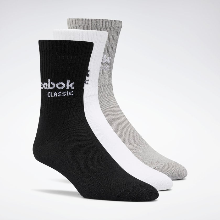 3-Pack Reebok Men's or Women's Classics Core Crew Socks $3.50 ($1.17 per pair) + free shipping