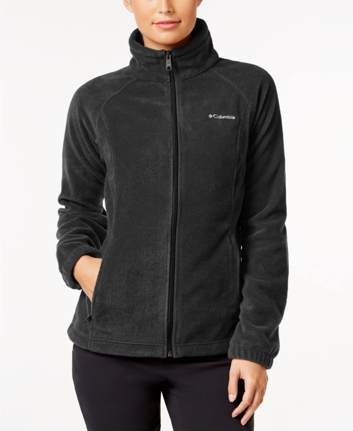 Columbia Women's Benton Springs Fleece Jacket (Petite, Black) $18 + free shipping