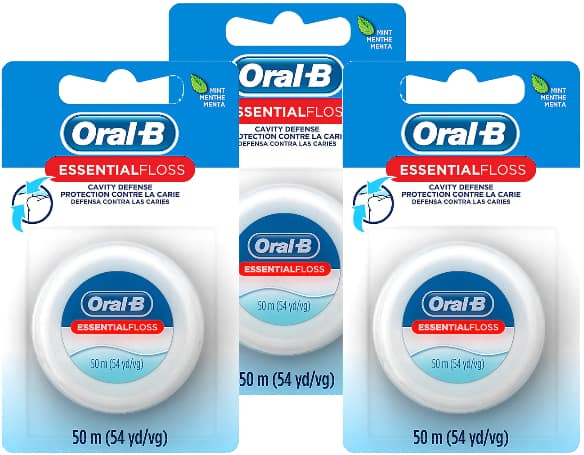 54-Yd Oral-B Essential Floss (Mint) 3 for Free (tax may apply) + free store pickup at Walgreens