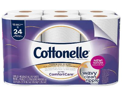 (select accts) 12-Count Double Roll Cottonelle Toilet Paper $4.49 + free shipping from Walgreens