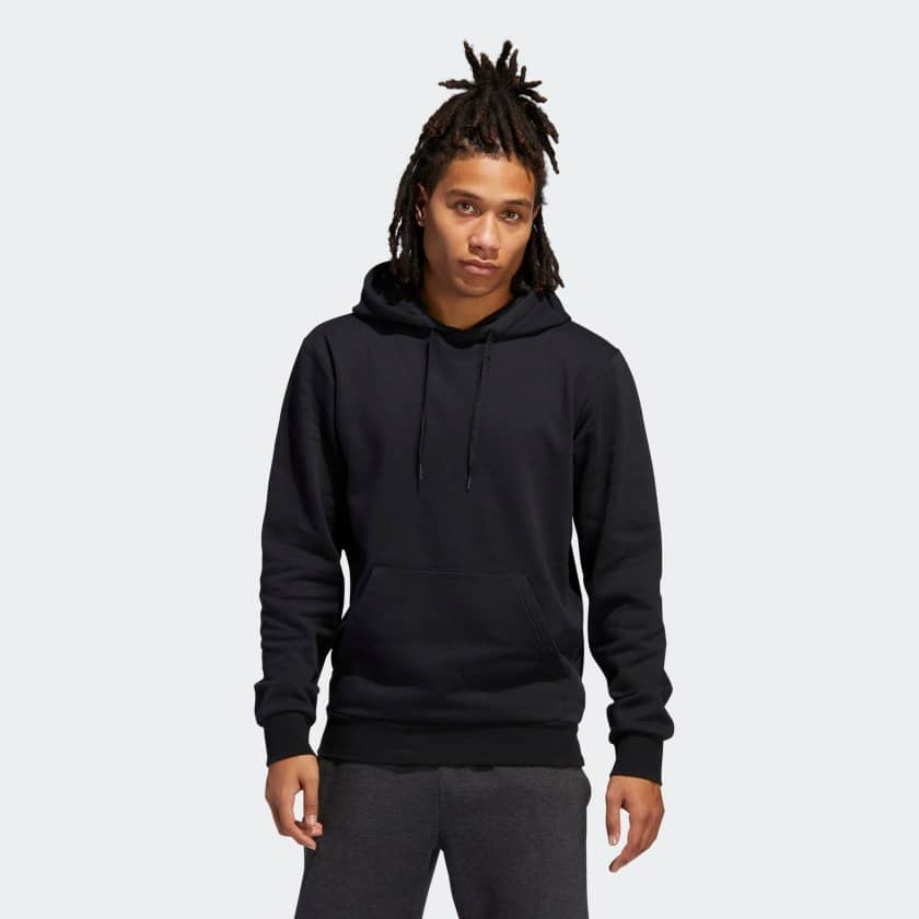 adidas Men's Fleece Pullover Hoodie (black or grey) $17, adidas Women's Must Haves Stacked Logo Full-Zip Hoodie (amber tint) $17 + free shipping