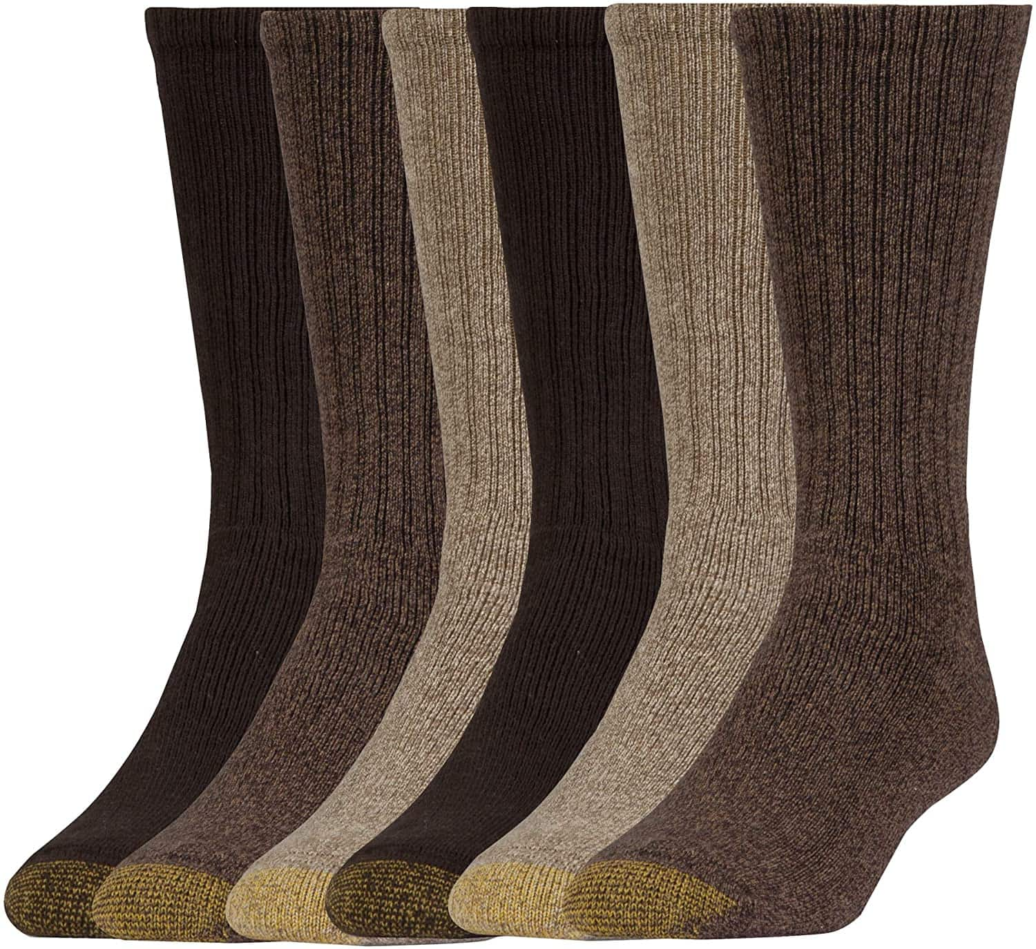 6-Pack Gold Toe Men's Harrington Crew Socks (shoe size 12-16) $9.90, 6-Pack Stanton Crew Socks (shoe sizes 6-13) $9.90 + free shipping w/ Prime or on orders over $25