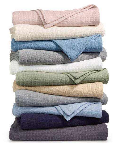 Lauren Ralph Lauren Classic 100% Cotton Blanket (Twin, Queen or King - various colors) $24 + free store pickup at Macys or free ship on $25