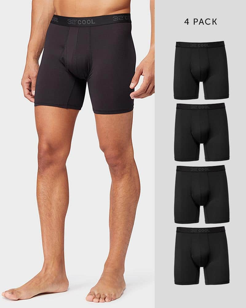 4-Pack 32 Degrees Men's Mesh or Cool Boxer Briefs $18 ($4.50 each) + free shipping