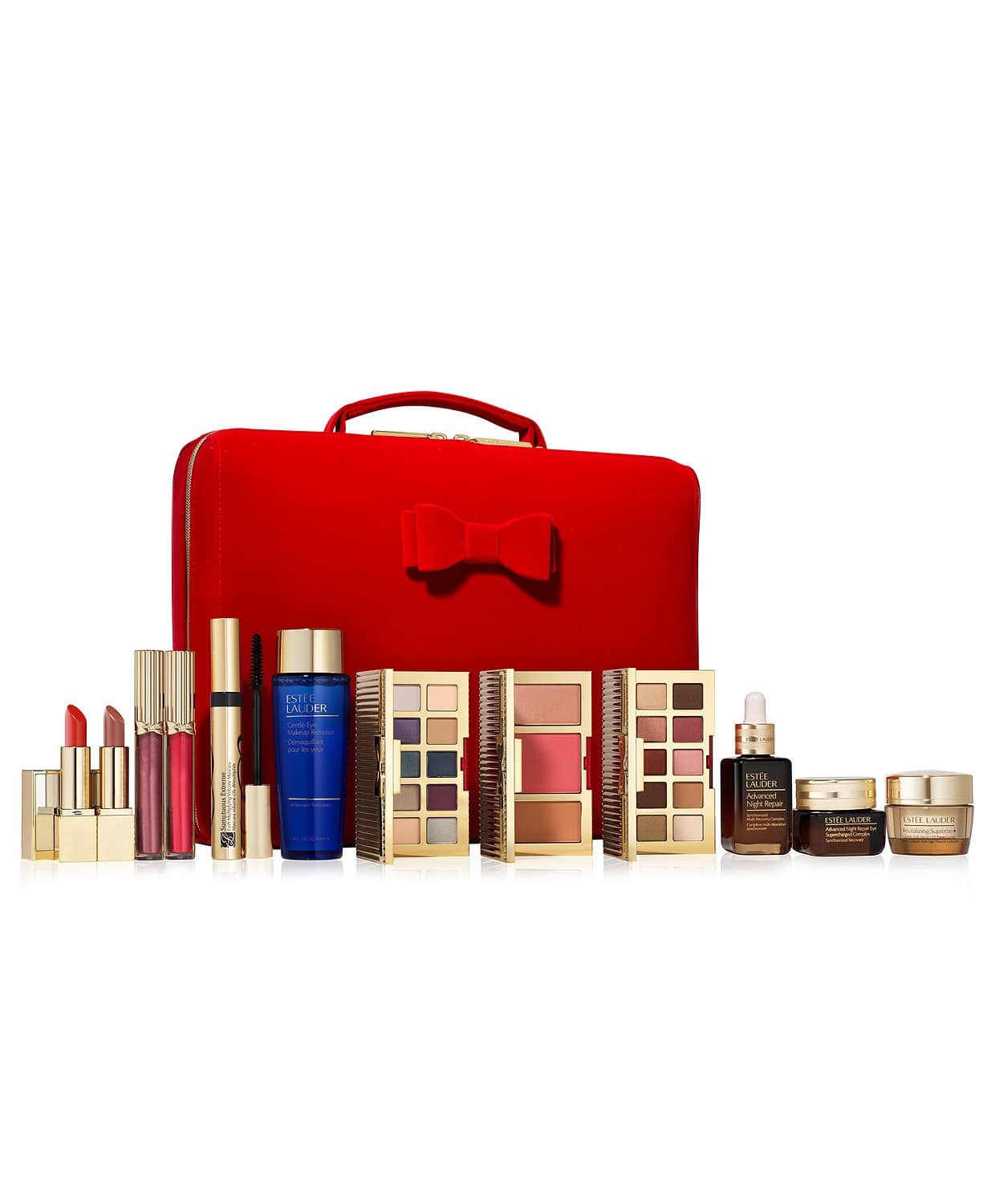 Estée Lauder 33 Beauty Essentials (includes 12 Full Size Favorites) + 2-Pc. Extreme Lashes Eye Makeup Gift Set $70 + free shipping