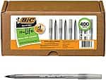 400-Ct BIC Round Stic Xtra Life Ball Pen (black) $14.32 + Free Shipping
