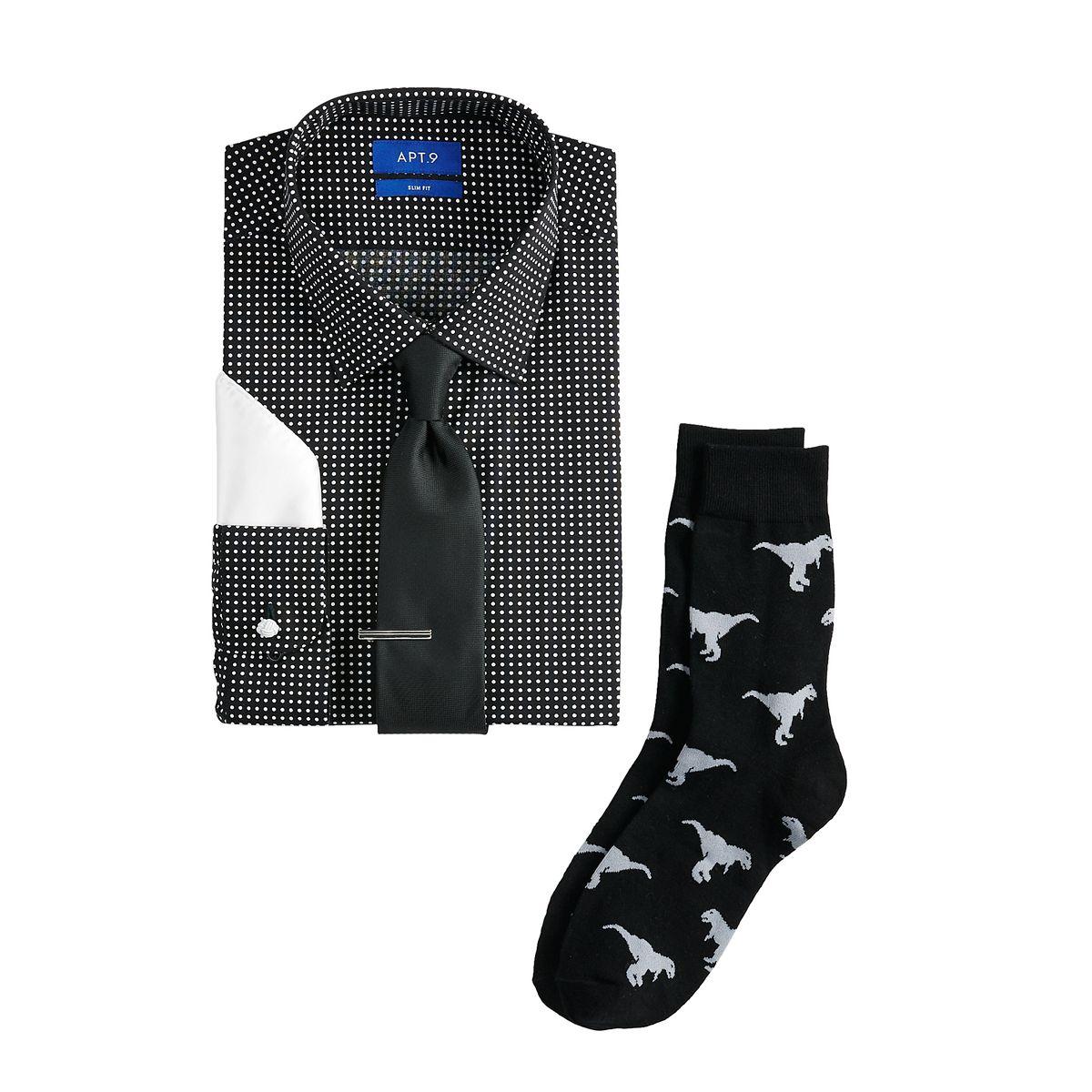6-Piece Men's Apt. 9 Slim-Fitt Dress Shirt Set $7.20, Sonoma Goods For Life Men's McCreery Ankle Boots $8.39, Geoffrey Beene Slim-Fit Dress Shirt $4.80, More + FS on $75