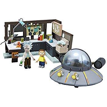 Rick & Morty Spaceship Garage $17 - Mcfarlane Construction Set