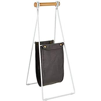 AmazonBasics Free Standing Toilet Paper Stand with Sling Reserve - White/Beech $6.03