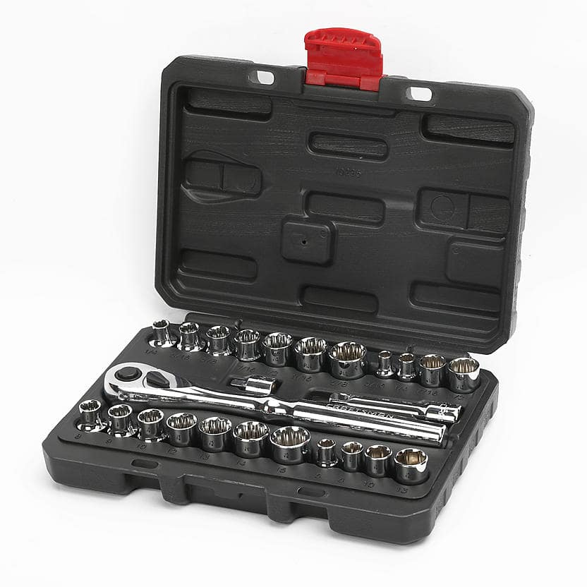 Craftsman 25 pc. Socket Wrench Set + Ratchet drive  $17.99