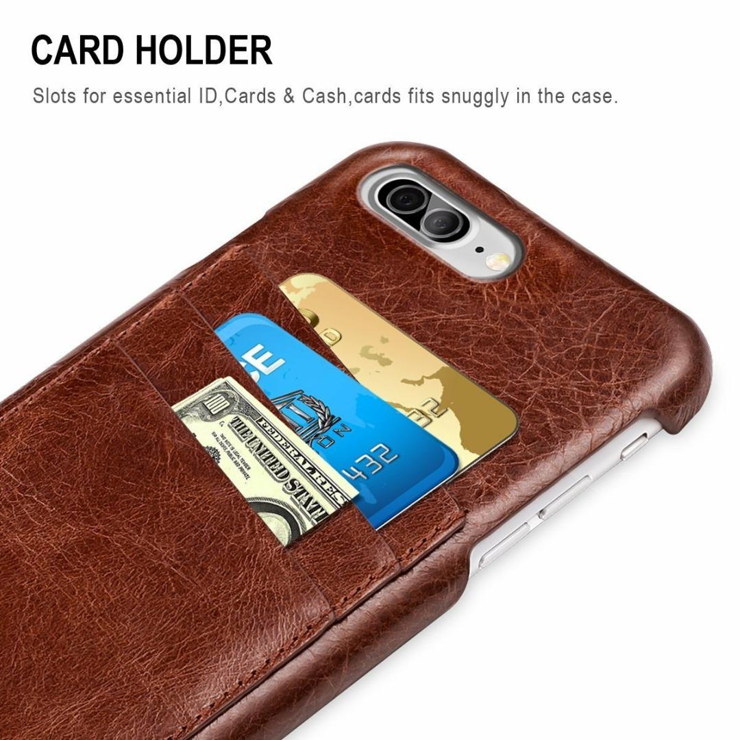 $8.74 iPhone 8/7 Plus & iPhone 8/7 & iPhone 6/ 6s Plus & iPhone 6/6s  Ultra Slim Genuine Leather Card Case-Free Shipping @Amazon