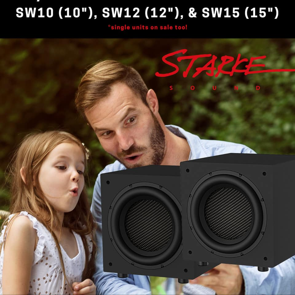 """Buy one get one free on Starke SW Subwoofers 10"""" 12"""" & 15"""""""