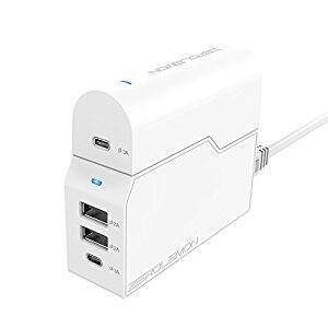 USB Type C Charger, ZeroLemon Removable 45W 4-Port USB C Charging Dock + 1 Removable USB Type C Travel Adapter for Apple MacBook, Nintendo Switch, Galaxy S8 $6 + FSSS on Amazon