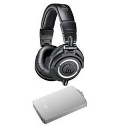 00022da85da Audio-Technica ATH-M50X Professional Studio Headphones & Fiio A3  Amplifier Bundle $129