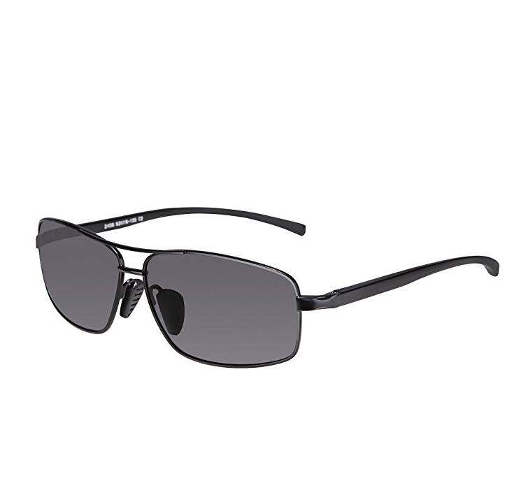 SUNGAIT Ultra Lightweight Rectangular Polarized Sunglasses 100% UV protection $9.99 on Amazon