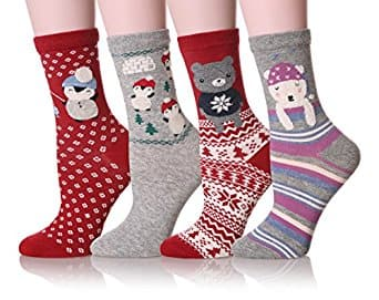 Dosoni Girl Novelty Cartoon Animal Lovely Cute socks 4 packs $6.59