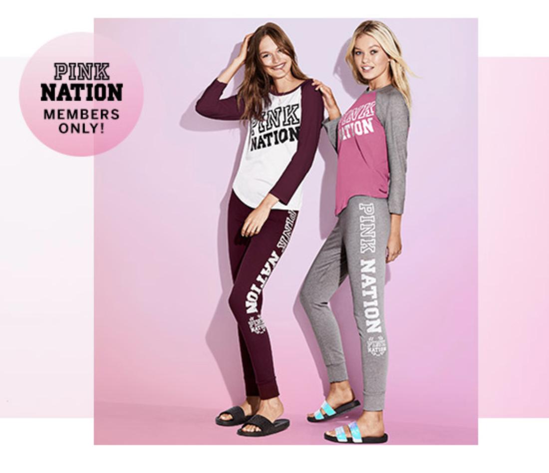 Victoria's Secret Pink Baseball Tee + Gym  Pant + Free Ship + Free Tote $40 plus tax