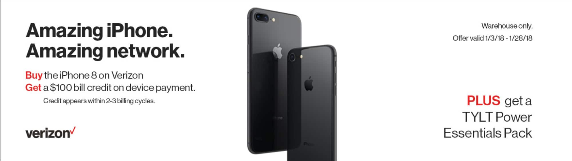 Costco $100 off Apple iPhone 8 / 8 Plus - IN STORE ONLY Starting 1/3/18