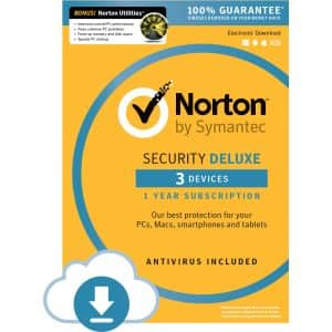 Norton Security Deluxe + 3 Devices with Norton Utilities - $4.99 After Promo Code and Rebates