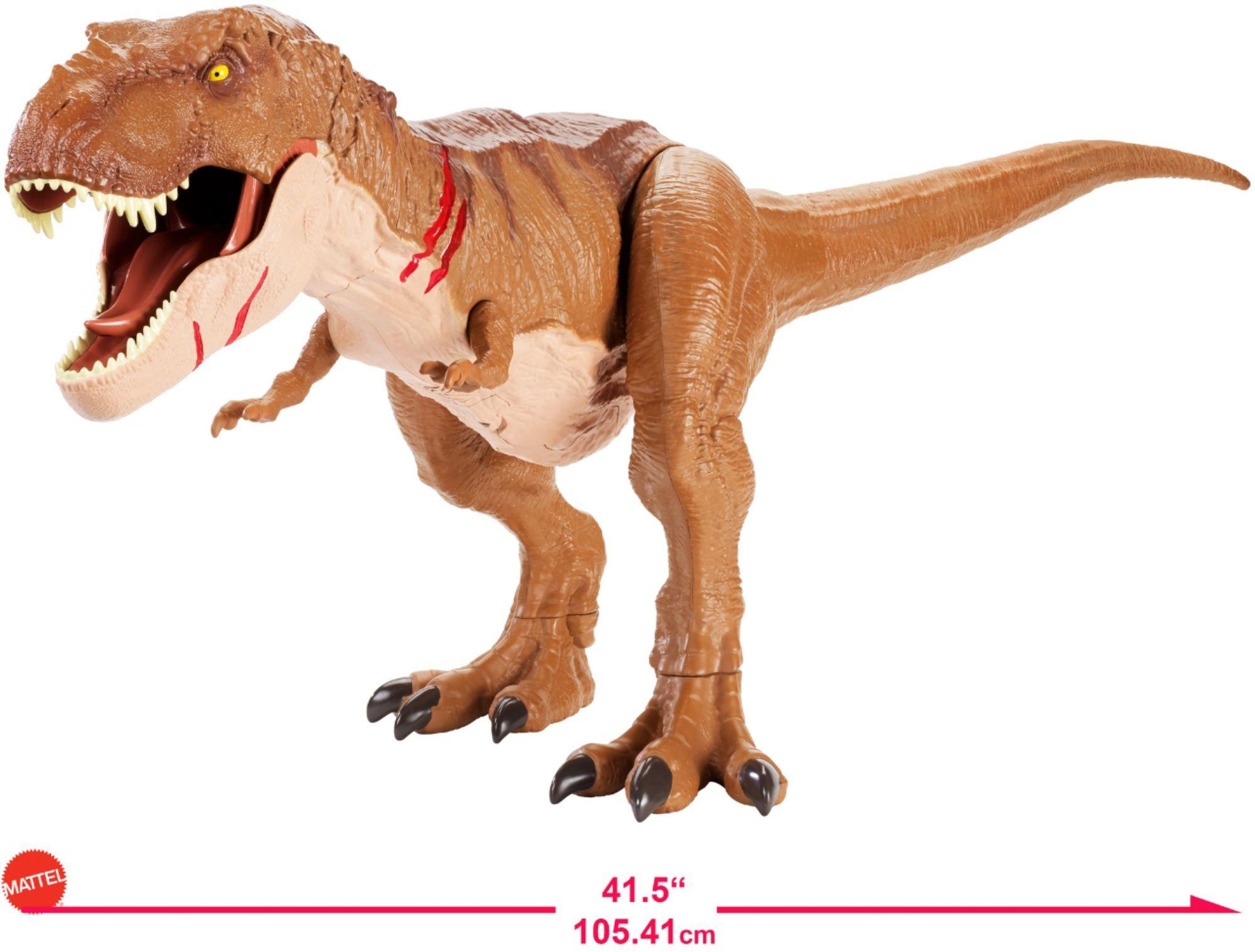 Jurassic World Battle Damage Roarin' Super Colossal Tyrannosaurus Rex $29.99 @ BB