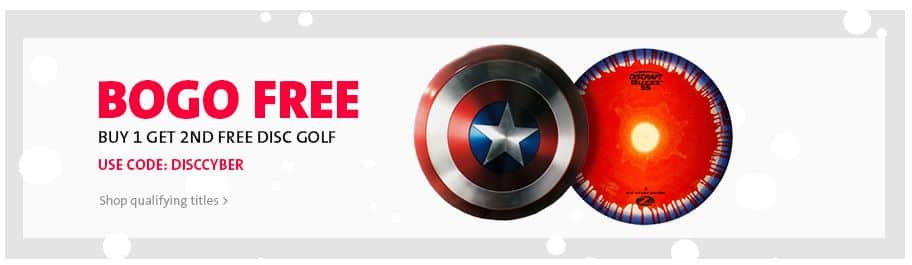 Buy One Get One Free on select Disc Golf discs