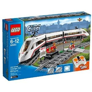 $109.99 (was$149.99)LEGO City Trains High-speed Passenger Train 60051 Building Toy ---Amazon
