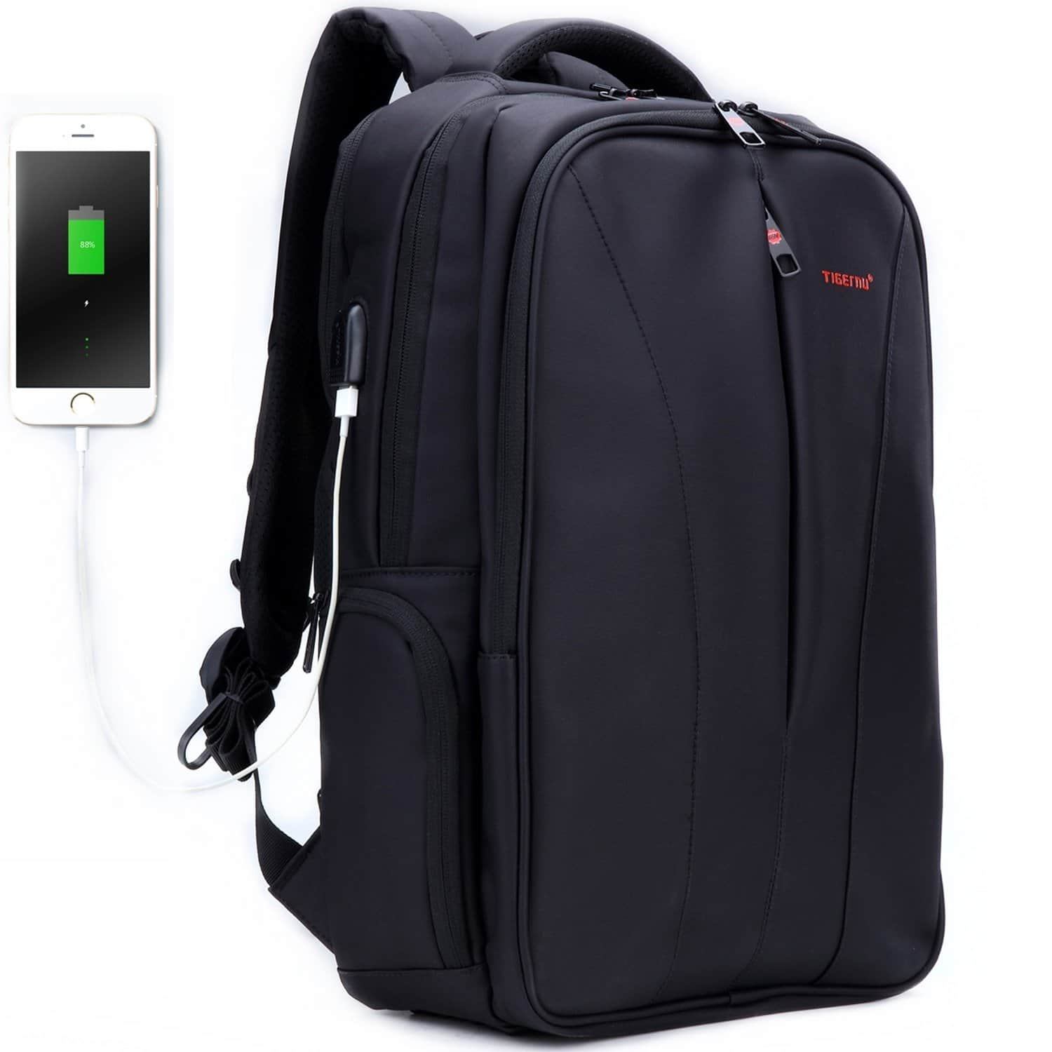83bd21c5fa Tigernu 15.6 inches Laptop Black Backpack with USB Charging Port (Anti Theft  Water Resistant) for  19.85
