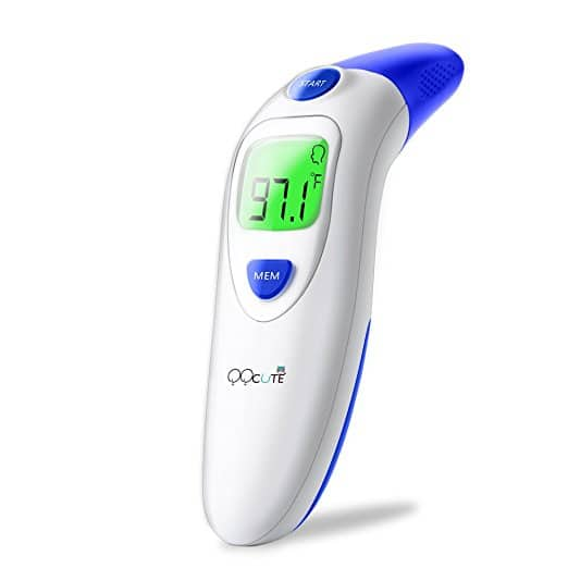 QQcute Digital Infrared Forehead Thermometer More Accurate Medical Fever Body Basal, Blue $12.99