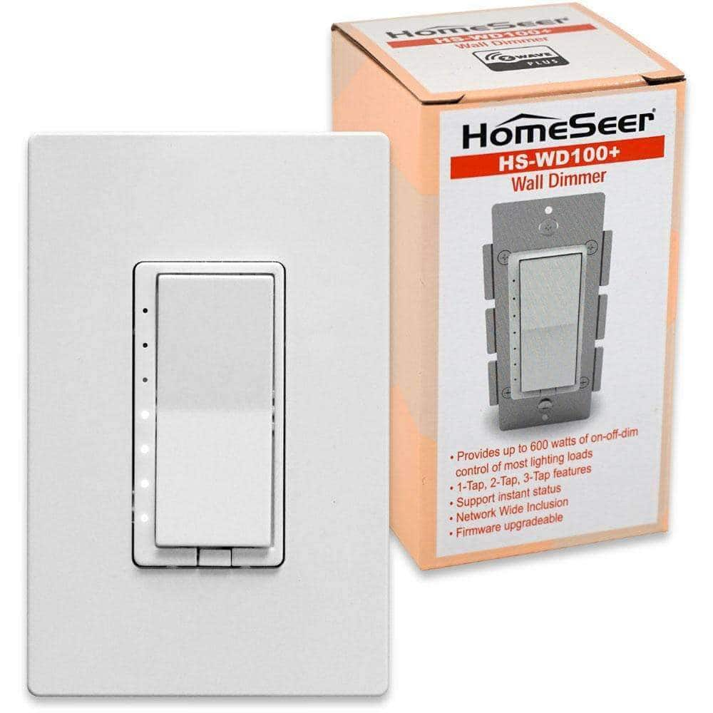 Homeseer Flash Sale HS-WD100+ $29.95 + shipping Z-Wave Wall Dimmer Switch