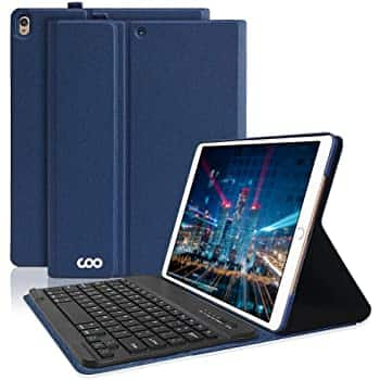 iPad Air 3rd Generation (2019)/iPad Pro 10.5 (2017) - Detachable Wireless Bluetooth Keyboard with Magnetic Smart Case Cover [Dark Blue Color] $12.69