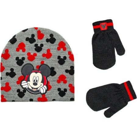 Mickey Infant Toddler Boy Hat and Mitten Set $0.97 with free pick up in store