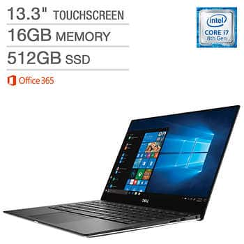 Costco: Dell XPS 9370 13 4k touch i7 8th Gen, 16 GB 512 SSD + Office 365 $1199.97