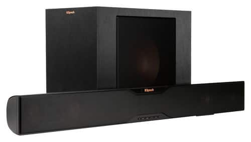 "Klipsch R-20B Soundbar with 10"" Wireless Subwoofer - Black for $299"