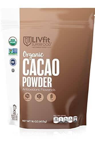 LIVfit Superfood 100% Raw Organic Cacao Powder (1Ib, 16oz) S&S $7.55