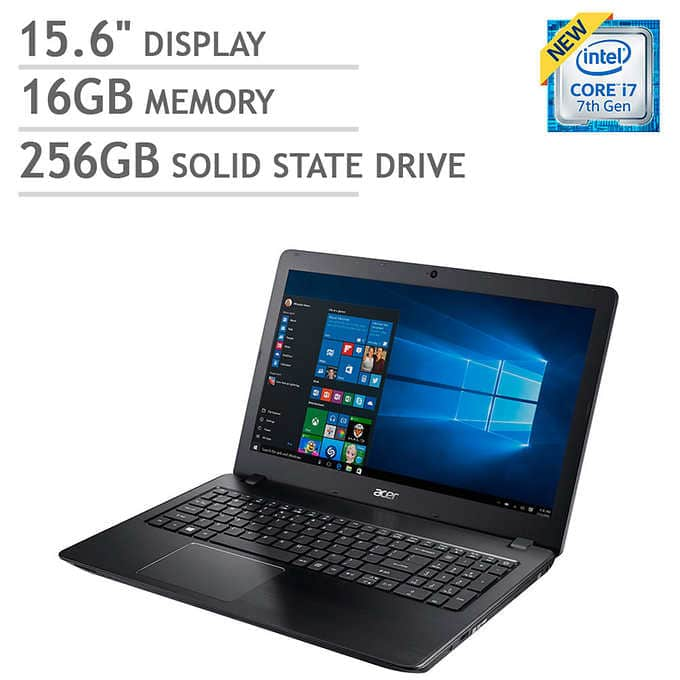 Acer Aspire F15 Laptop - Intel Core i7 - 2GB Graphics - 256GB SSD - 16GB RAM $700 @ Costco.com